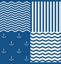 marine seamless pattern set 2 vector image