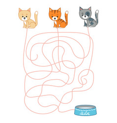 maze game for children cats and milk vector image