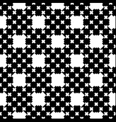monochrome cross stitching seamless pattern vector image