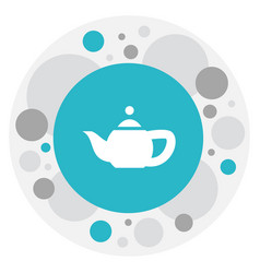 Of cooking symbol on teapot vector