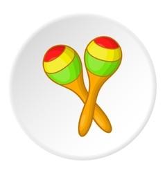 Pair of maracas icon cartoon style vector
