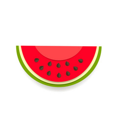 paper watermelon icon on white background vector image