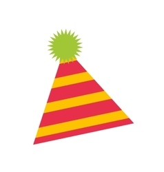 Party hat isolated icon vector