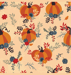 Seamless pattern for thanksgiving celebration vector