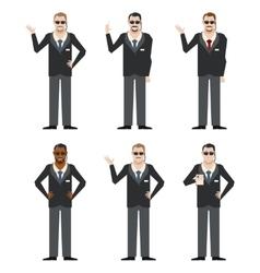 Set of FBI Agents vector