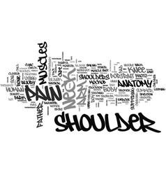 Shoulder word cloud concept vector