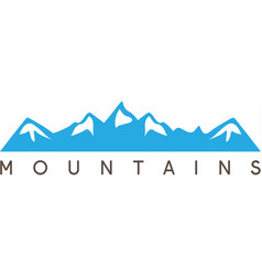 Simple abstract mountains vector
