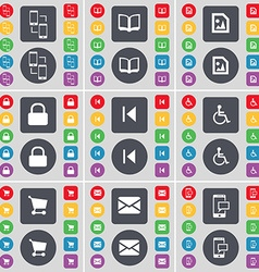 Smartphone Book Media file Lock Media skip vector image