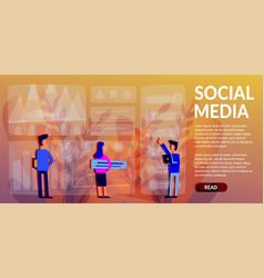Social media color background vector