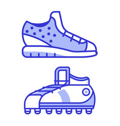 Sport running shoes icons vector
