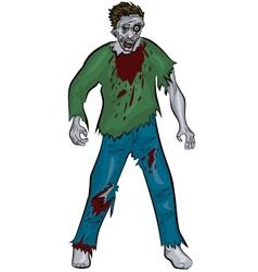 standing zombie vector image