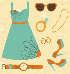 Summer fashion vector image