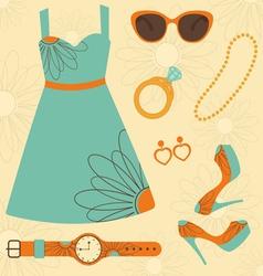 Summer fashion vector