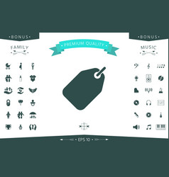 tag icon symbol vector image