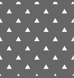 tile pattern with white triangles on grey vector image