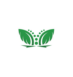 tree leaf icon design template vector image