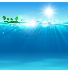 Tropical island at the ocean for vacation design vector image vector image