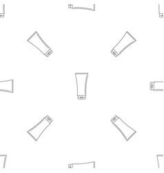 uv tube cream pattern seamless vector image