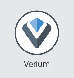 Verium - blockchain cryptocurrency sign icon vector