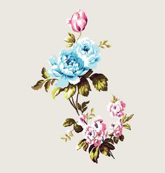 vintage bouquet of flowers vector image