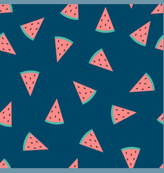 watermelon indigo blue background vector image