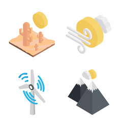 weather related icons vector image