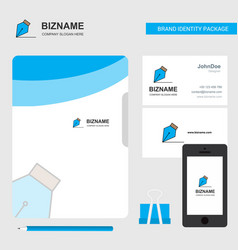 writing business logo file cover visiting card vector image