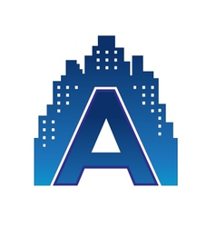 a letter city vector image