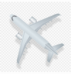 airplane top view high vector image vector image