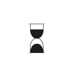 black hourglass icon vector image vector image