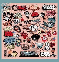 graffiti street art objects vector image