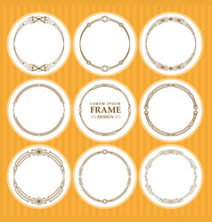 round frames set design element vector image vector image