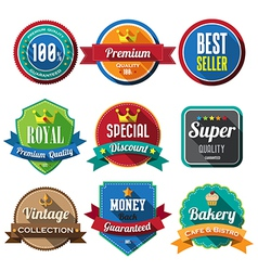 Set of retro vintage badges and labels 05 Flat des vector image vector image