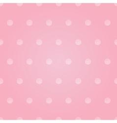 Vintage Pastel Pink Baby Girl Polka Dots vector image