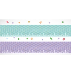 Children height meter wall Sticker set lilac blue vector image