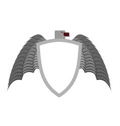 Ferocious gray bird heraldic element for coat of vector image vector image