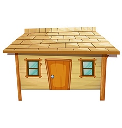 House made of wood vector image vector image