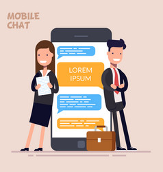 instant messaging service messaging service sms vector image vector image