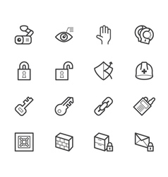 security element icon set on white backgrou vector image