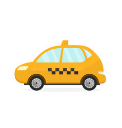 yellow taxi cab auto flat modern vector image