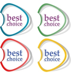 Best choice offer and seller labels with ribbon vector image