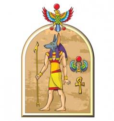 Egyptian god Anubis vector image vector image