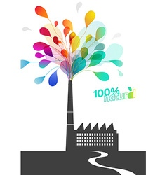Factory chimney with ecology pollution vector image vector image