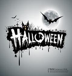 Happy Halloween text design vector image vector image