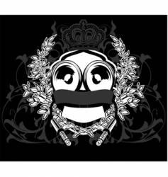 heraldry sound sign vector image