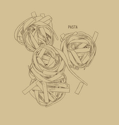 home made pasta sketch vector image vector image