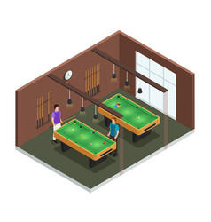 isometric game club interior composition vector image