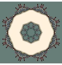 Ornate vintage background vector image