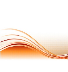 red wave background with lines vector image vector image