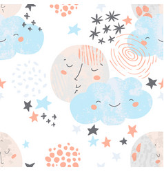Artistic nursery seamless pattern vector